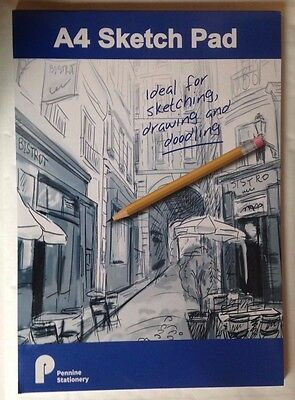 Pennine A4 Artists Sketch Pad Book 60 sheets 70gsm Writing and sketching