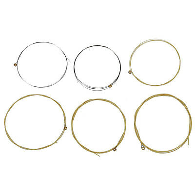 6Pcs Metal Strings for Acoustic Guitar 1 Meter 1M New DT