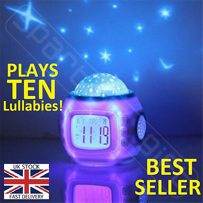 Baby Musical Cot Mobile Projector Nursery Light Show Nightlight WITH SOUND PC01