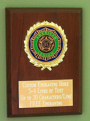 American Legion Award Plaque 4x6 Trophy FREE engraving