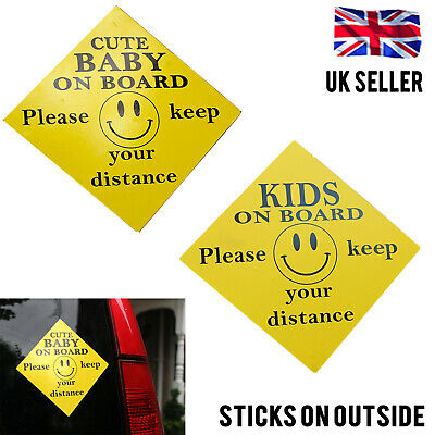 External Self Adhesive Cute Baby On Board Kids On Board Warning Car Sign Sticker