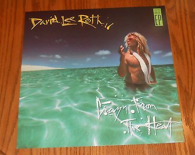 David Lee Roth Crazy From the Heart Poster Flat Square Promo 12x12  RARE