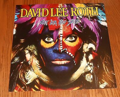 David Lee Roth Eat' Em and Smile Poster 2-Sided Flat 1986 Promo 12x12 Van Halen
