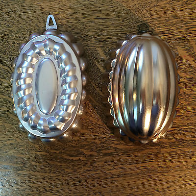 Copper Oval Molds Set of 2 Pink Made in Italy & Light Copper No Maker Mark