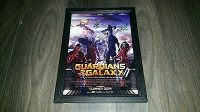 "Guardians Of The Galaxy Cast Pp Signed Framed A4 12""x8"" Photo Poster Chris Pratt"