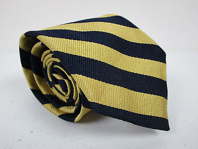 Boys Brooks Brothers Makers Yellow And Blue Stripe 46 x 3 New