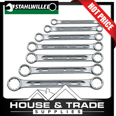 Stahlwille 7 Piece 8x9-20x22mm Metric Ring Spanners SW21/7 96410503