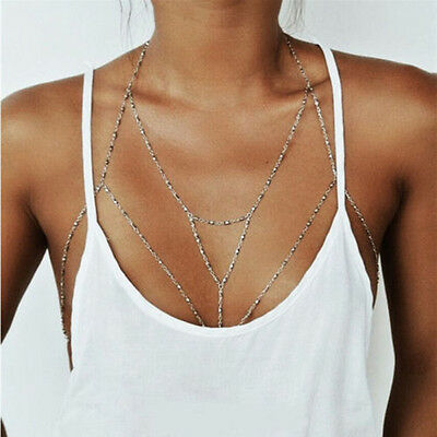 Women's Body Chain Jewelry Bikini Waist Belly Beach Harness Slave Necklace