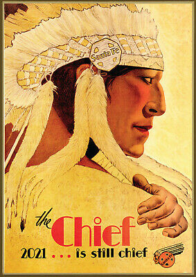 Wall Calendar 2018 [12 pages A4] Native American Vintage Travel Poster M600