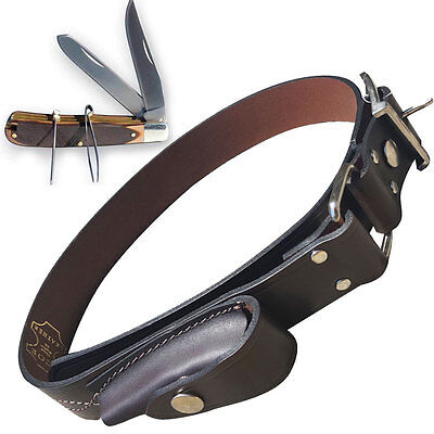 Stockman's Knife with Leather Belt