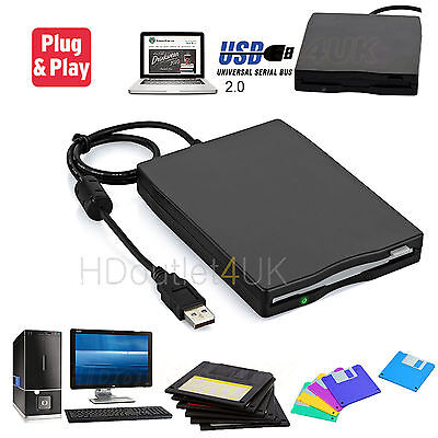"USB External Portable 3.5""Floppy Disk Drive 1.44Mb For PC Laptop Data Storage AU"