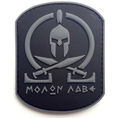 Molon Labe Warrior 3D Army Pvc Rubber Morale Badge Tactical Hook Loop Patch *04