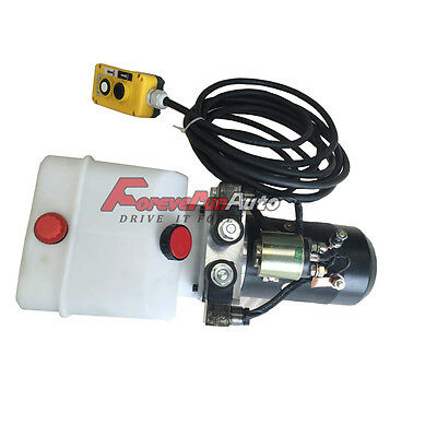 New Hydraulic Power Unit Double Acting 12v Dump Trailer - 3 Quart with remote