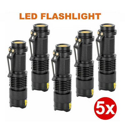 5x CREE LED Flashlight Torch 1200LM Adjustable Focus Zoom Light Lamp AU STOCK