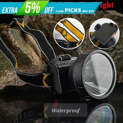 30000 Lumens Rechargeable 2 Modes LED Headlight Headlamp Fishing Outdoor Torch
