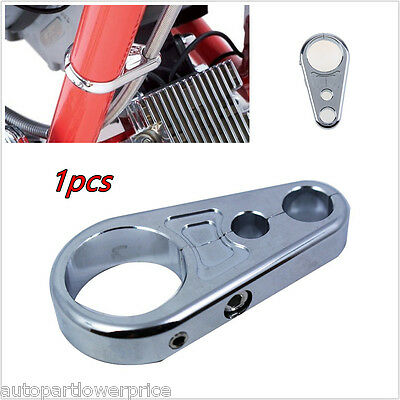 1x Chrome Motorcycle Brake Throttle Cable Clamp Separator Wire Holder Organize