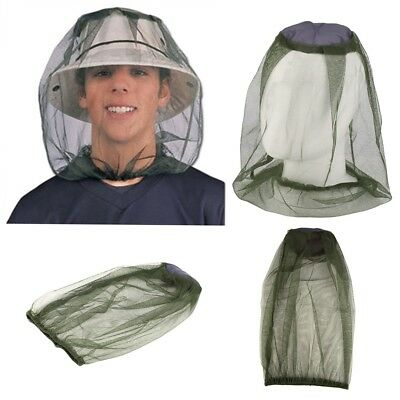 TRAVEL CAMPING MOSQUITO INSECT MIDGE BUG MESH HEAD NET FACE PROTECTOR uk stock