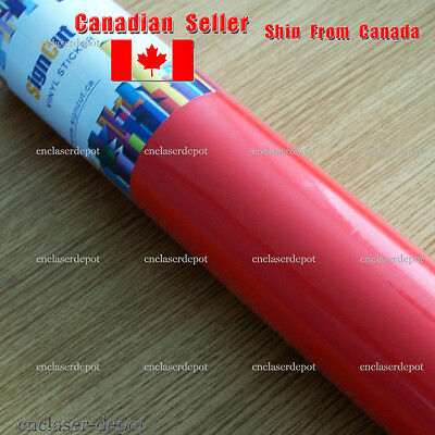 """Self Adhesive Vinyl 24"""" Wide 55 Yards Roll for Craft Cutter Plotter Choose Color"""