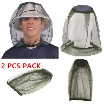 Midge Mosquito Insect Hat Bug Mesh Head Net Face Protector Travel Camping in UK
