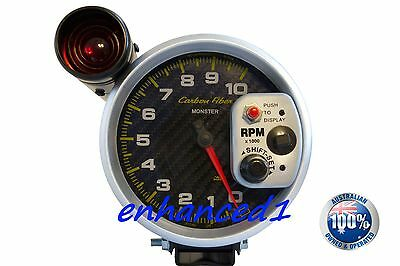 """✪ Sport-Comp Style CARBON 5"""" Monster Tacho Tachometer Universal Auto Meter style"""