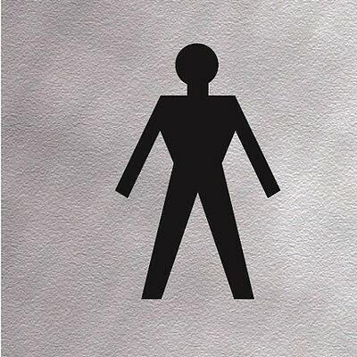 """/""""TOILETS/"""" Information Sign High Quality Brushed Metallic Self Adhesive Material"""