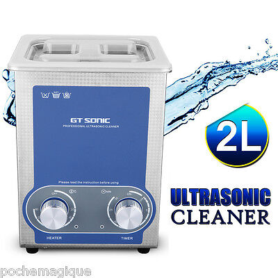 2L dentaire Nettoyeur à ultrasons pagayer Cleaner Lave linge Cleaner cuve minute