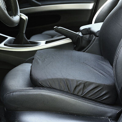 Adult/Driver Car Booster Seat for Visibility - Soft Comfortable Black Poly Cover