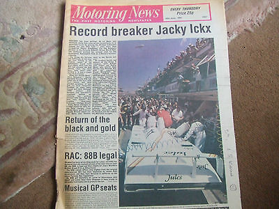 Motoring News 18 June 1981 Le Mans 24 Fiat Panda John Brown Cadwell F3 Croft etc
