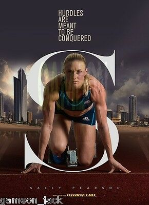 Australian Olympic Gold Medalist Sally Pearson Signed Poster