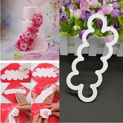 High Quality 3D Cake Rose Petal Flower Cutter Fondant Icing Tool  Mould