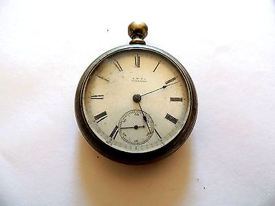 "Vintage Classic ""Waltham"" Fahy's Ore Silver Roman Numeral Pocket Watch"