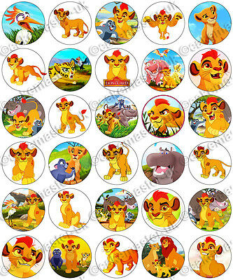 30 x The Lion Guard Party Collection Edible Rice Wafer Paper Cupcake Toppers