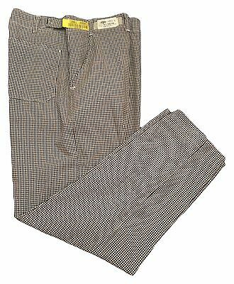 Chef Pants Checkered Zipper and Snap Top Closure Adjustable Waist BEST Textiles
