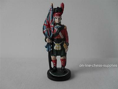 Hand painted Battle of Waterloo Spare Chess Piece British Flagbearer 10cm *Used*