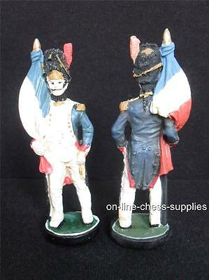 Hand painted Battle of Waterloo Spare Chess Piece French Flagbearer *Used*