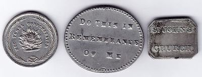 ✪ Canada East Communion Tokens - Lot of 3, Montreal, Quebec
