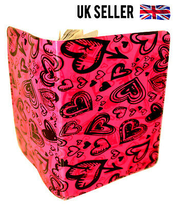 Pink Hearts Uk Us European Passport Cover Holder Protector Case Gift