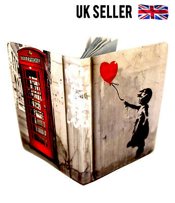 Banksy Telephone Box Uk Us European Passport Cover Holder Protector Case Gift
