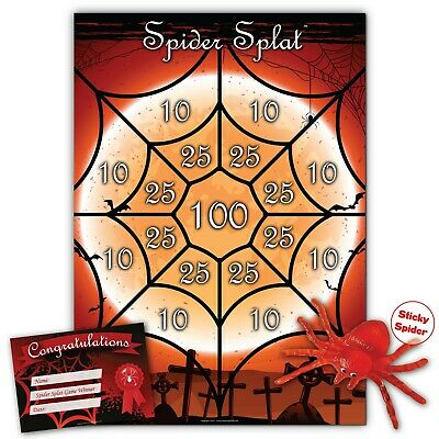 Halloween Party Game-  SPIDER SPLAT - FREE 1st Class P&P