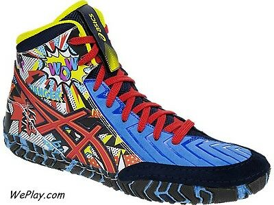 NEW! ASICS Aggressor 3 Limited Edition LE Comic Hero Wrestling Shoes J603Y-3823