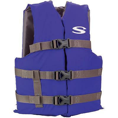 Stearns Blue Classic Youth Life Jacket For/50-90 Lbs - Confortables/Gilets De Sa