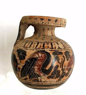 Ancient Corinthian Aryballos Archaic Greek.