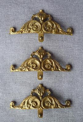 3 antique furniture ornaments or handles ormolu France early 1900's