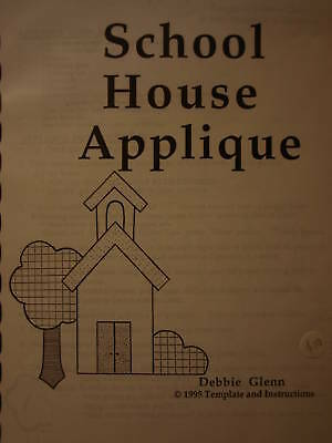 "Applique Embroidery Pattern ""School House"" Design, Instructions- Love & Stitches"