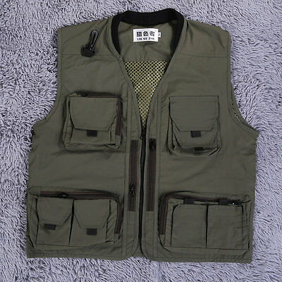 Fashion Zipper Spring Men Fishing And Photography Nylon Vest Garment BQ