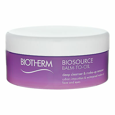 Biotherm Biosource Balm-To-Oil Deep Cleanser Make-Up Remover 4.22oz,125ml #15797