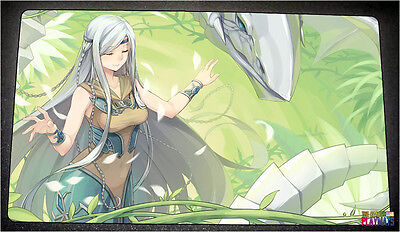 FREE SHIPPING Yugioh Playmat Maiden with Eyes of Blue Playmat Blue-Eyes