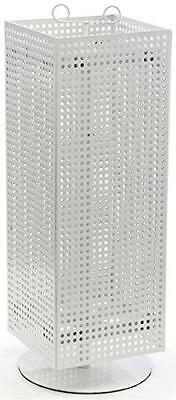 "Displays2go Counter Pegboard Spinner Rack, Magnetic, 28"", White Steel (MD4PCTWH)"