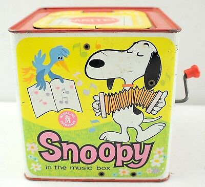 Vintage 1958 Mattel Snoopy Jack In The Box