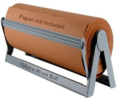 460mm STEEL PAPER ROLL DISPENSER & CUTTER Office or Home! CLEARANCE!